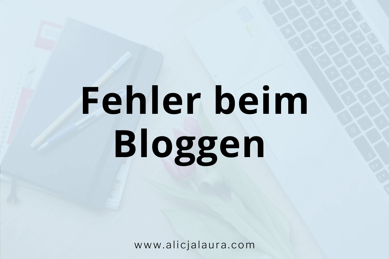 Fehler beim Bloggen