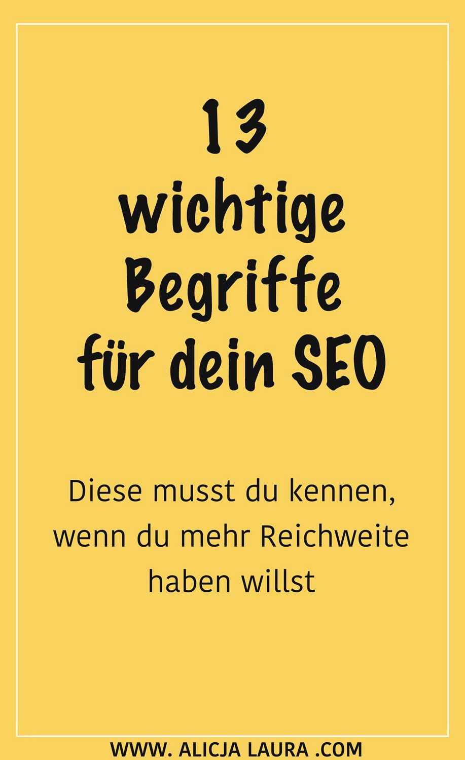 SEO Begriffe