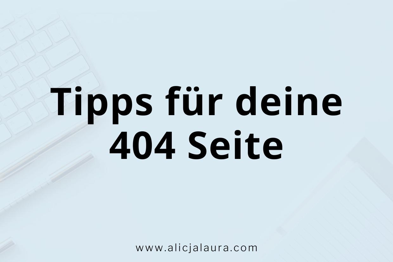 Tipps für deine 404 Seite