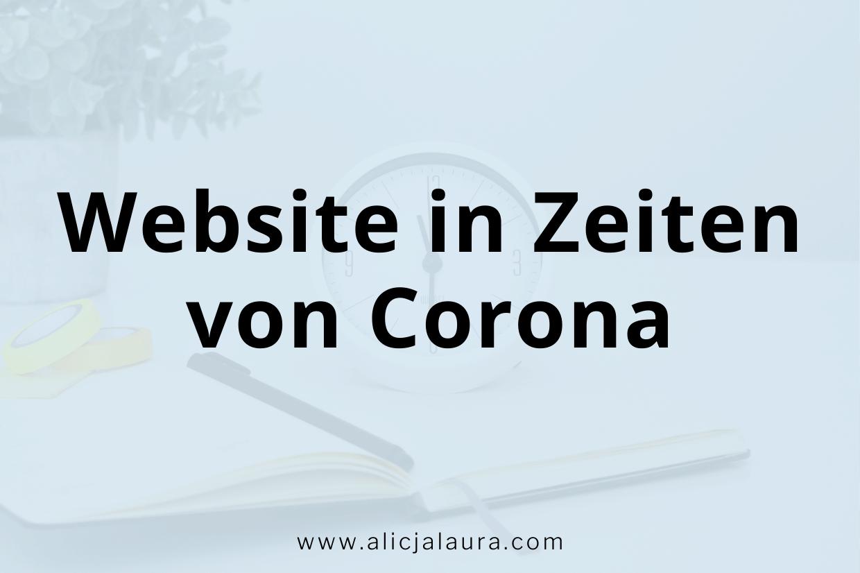 Website in Zeiten von Corona