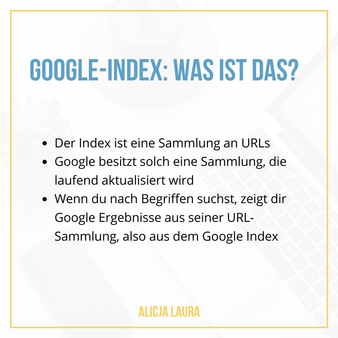 Google-Index Erklärung