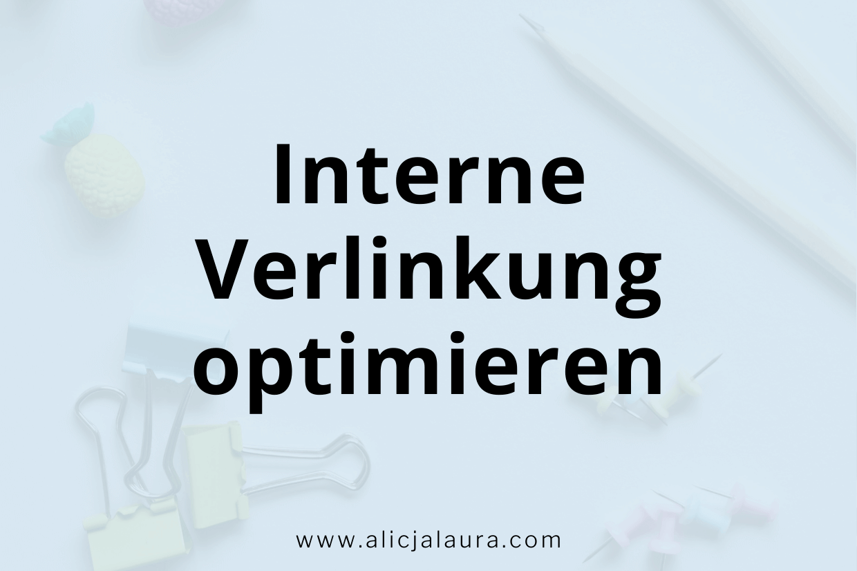 Interne Verlinkung optimieren