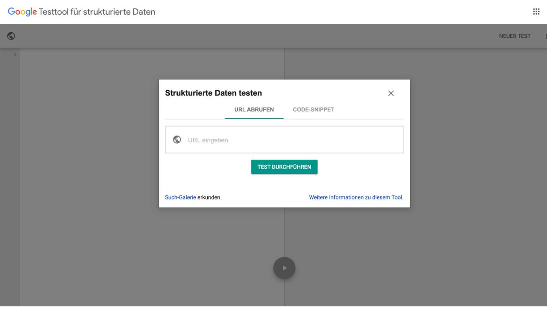Testtool für strukturierte Daten von Google